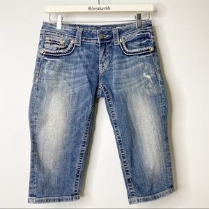 Miss Me Cropped Distressed Jeans Size 28